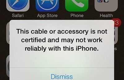 How to Fix This Cable or Accessory Is Not Certified or May Not Work Reliably with This IPhone.