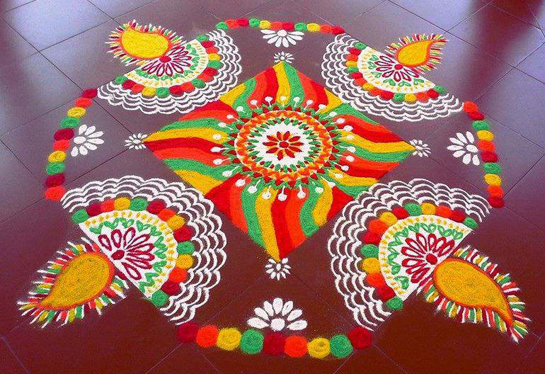 Best Rangoli Design Pattern for Festival. 101  Best   Rangoli Designs     Simple Rangoli Pattern for Diwali