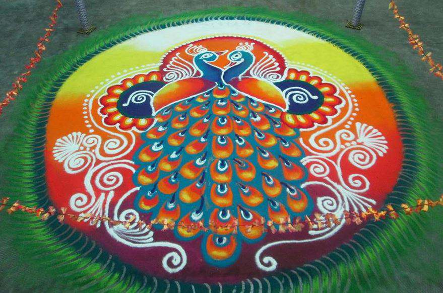Small and Simple Rangoli Designs. 101  Best   Rangoli Designs     Simple Rangoli Pattern for Diwali