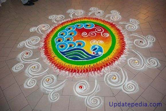 Easy Rangoli Designs with Diya for Newyear. 101  Best   Rangoli Designs     Simple Rangoli Pattern for Diwali